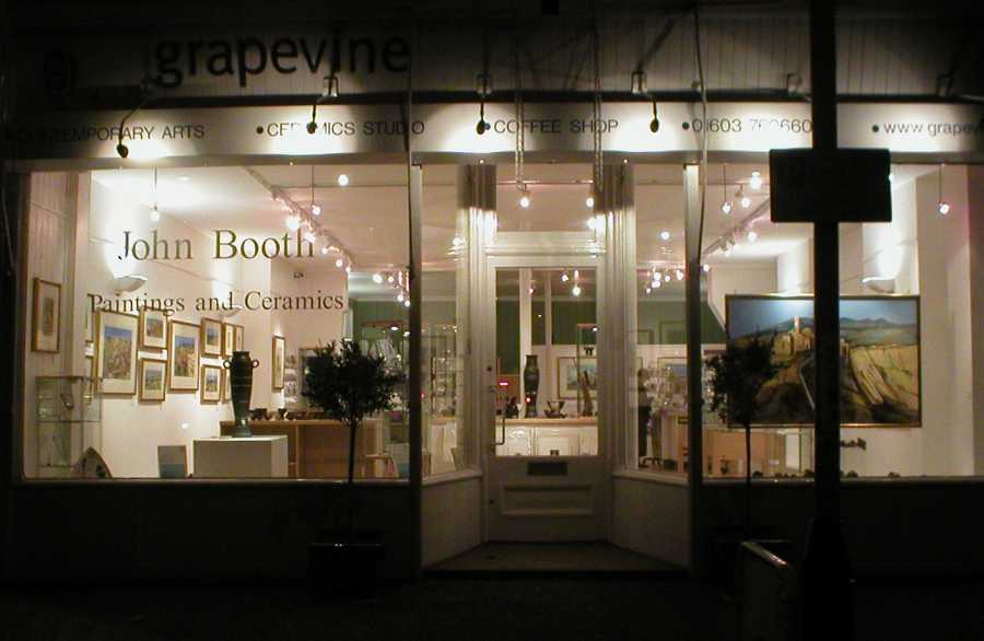 Grapevine Gallery at Night